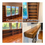 Custom Built Shelves & Mantle