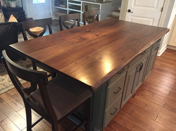 Counter Top Island Wormy Hole Maple