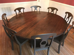 """72"""" Round Rustic Cherry Wood Table"""