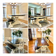 Classic Trestle Base Rectangle Dining Room Set