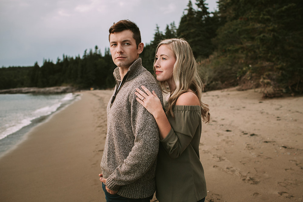 Mispec Beach engagement photography session