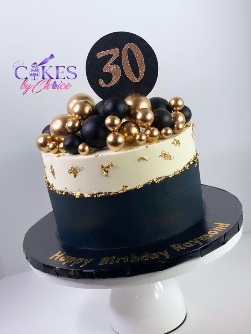 30th Birthday Black and gold theme