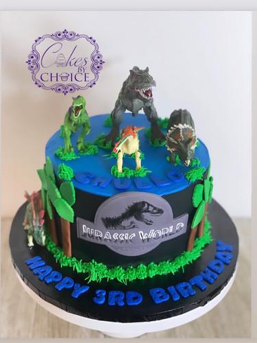Jurassic Park theme cake