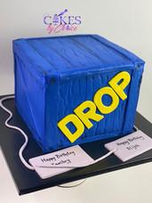 Fortnite Drop Box cake