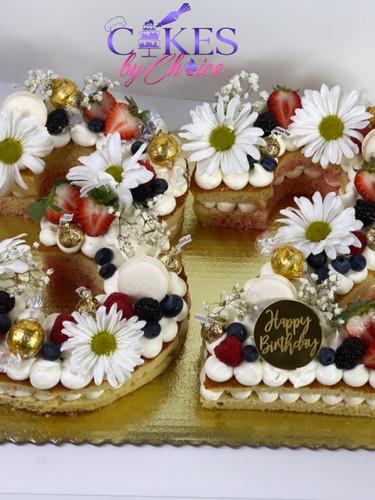2 digit Open Number cake
