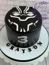 Black Panther theme cake