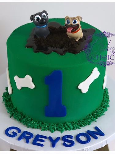 Puppy Dog Pals theme cake