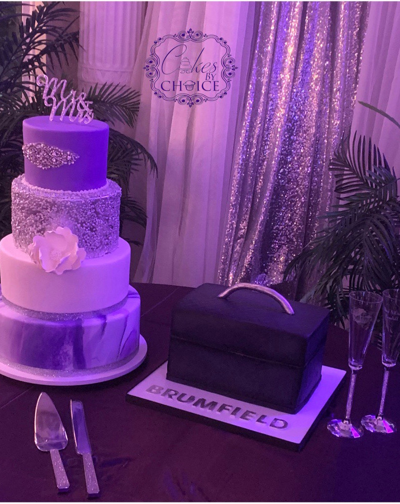 Wedding Cake & Grooms tool box cake