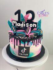 TikTok theme cake