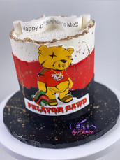 Fault line buttercream cake