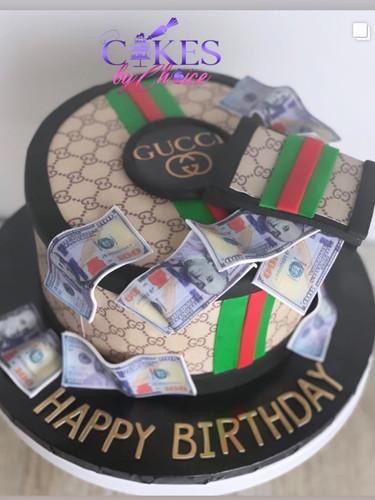 Gucci Theme Money cake