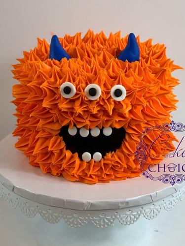 Monster theme smash cake
