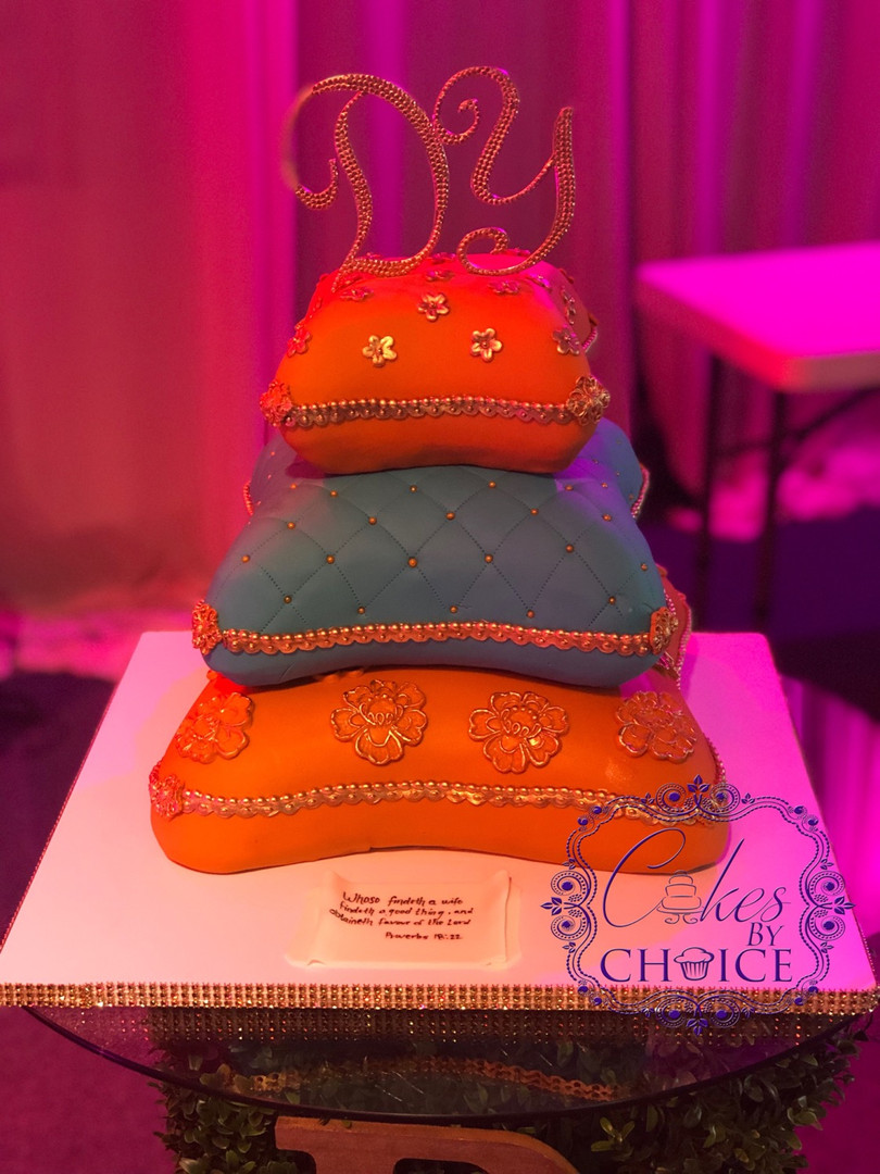 3 Tier pillow Wedding Cake