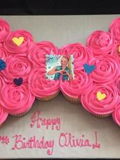 JoJo Siwa Bow cupcake cake