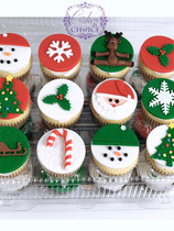 Decorated Fondant Cupcakes