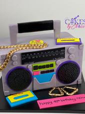 90's theme 3D Boom Box Cake
