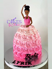 Princess Barbie dress cake