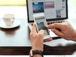 Só basta eu criar uma rede social ou um site que os clientes vem!