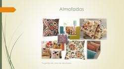 Sugestão de cores e almofadas.
