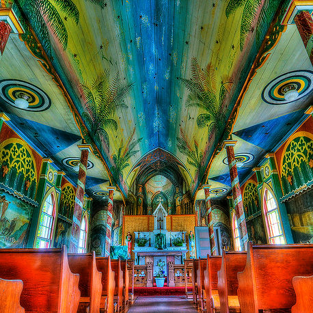 Painted Church on The Big Island of Hawaii