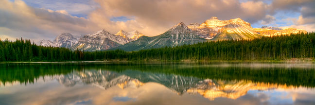 Dawn at Herbert Lake, Banff, Canada