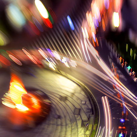 City Lights: Long exposure with a selective focus lens