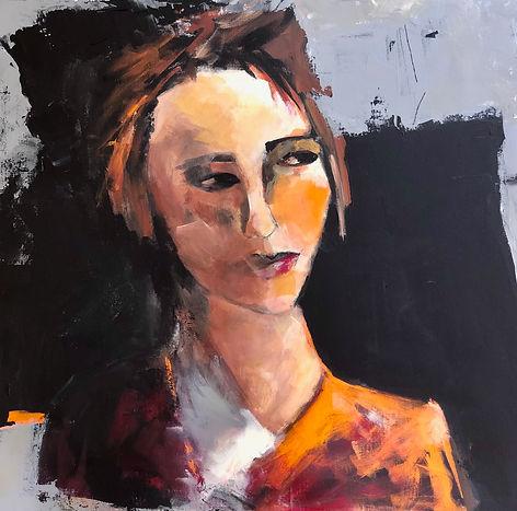 Eyes on Eyes on fire. 24 x 24 Acrylic on canvas
