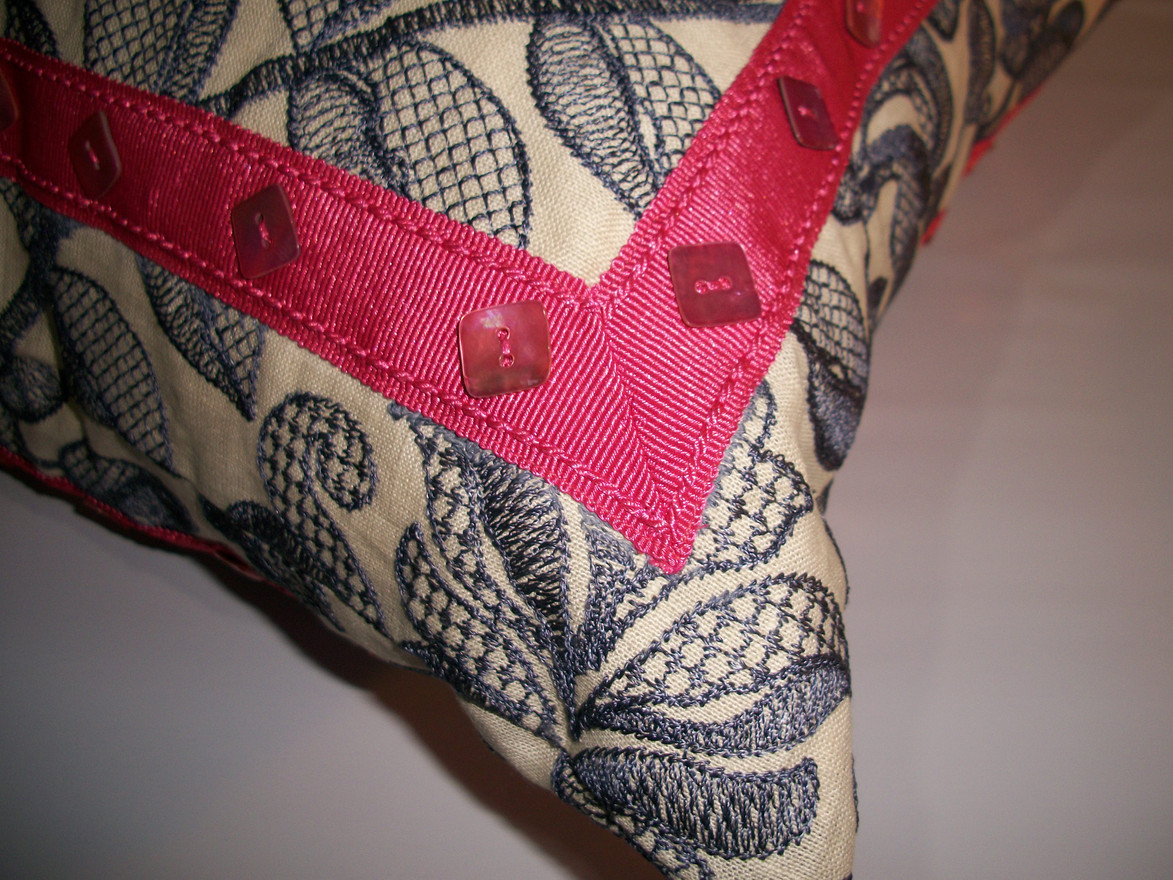 Embellished pillow detail
