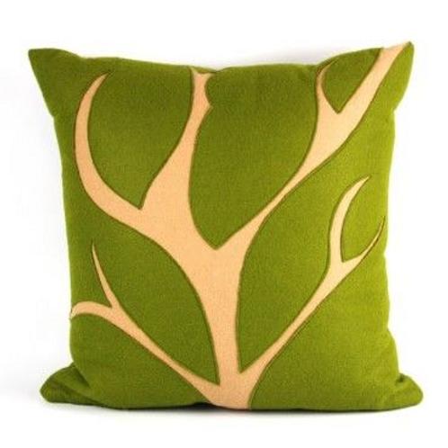 Wool Felt Branch Pillow