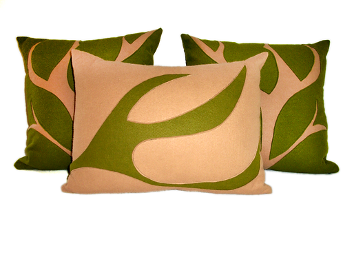 Wool Felt Branch Pillow Set