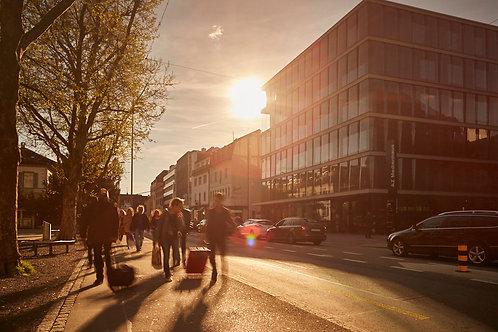 Abendsonne in der Stadt