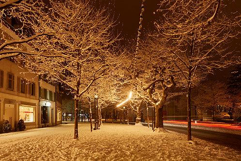 Schnee in der Stadt