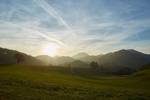 Sonnenuntergang Staffelegg