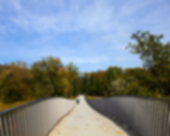 Geschwungene Linien als Brücke