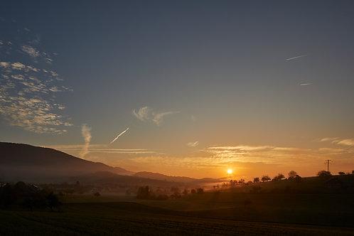 Sonnenaufgang über Küttigen