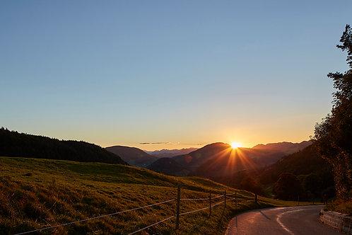 Sonnenuntergang über dem Jura
