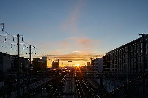 Sonnenaufgang Bahnhof Aarau