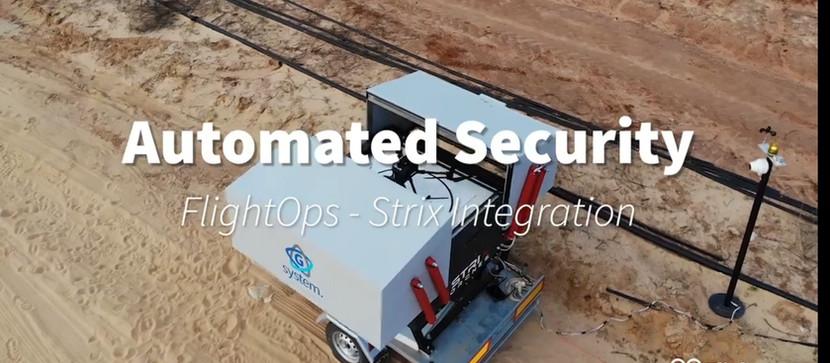 "FlightOps autonomous ""drone in a box"" integration"