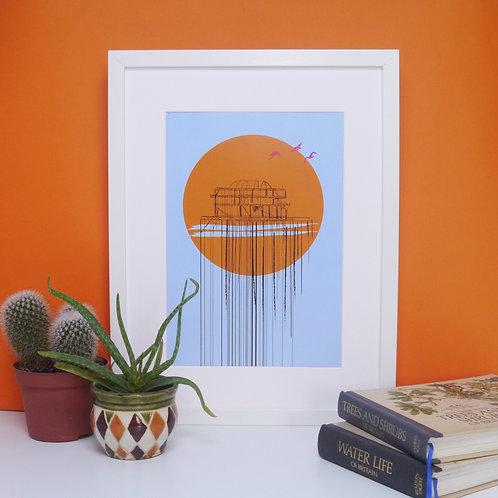 The West Pier Brighton, Art Print