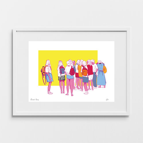 Students at the Station - Limited Edition Giclée Art Print