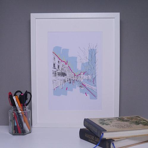 New Road Brighton, Art Print