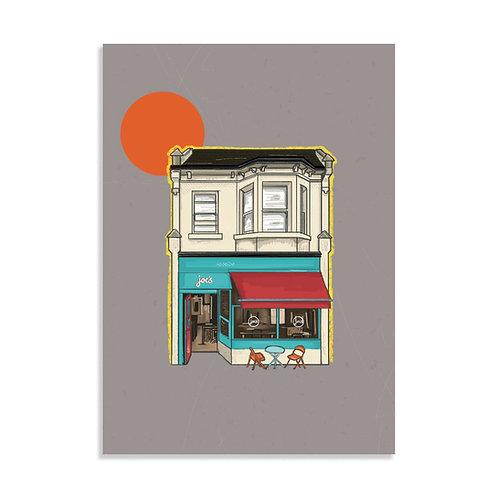 Joes Cafe, Art Print