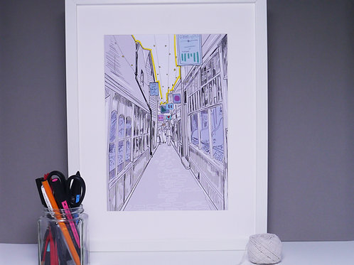 South Lanes Brighton, Art Print