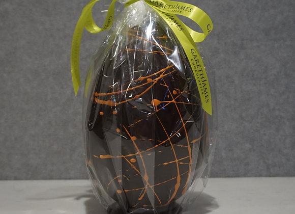 Dark Chocolate Egg with Orangettes