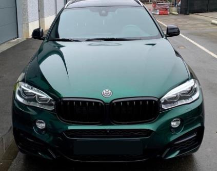 HM07 Gloss Green Black car