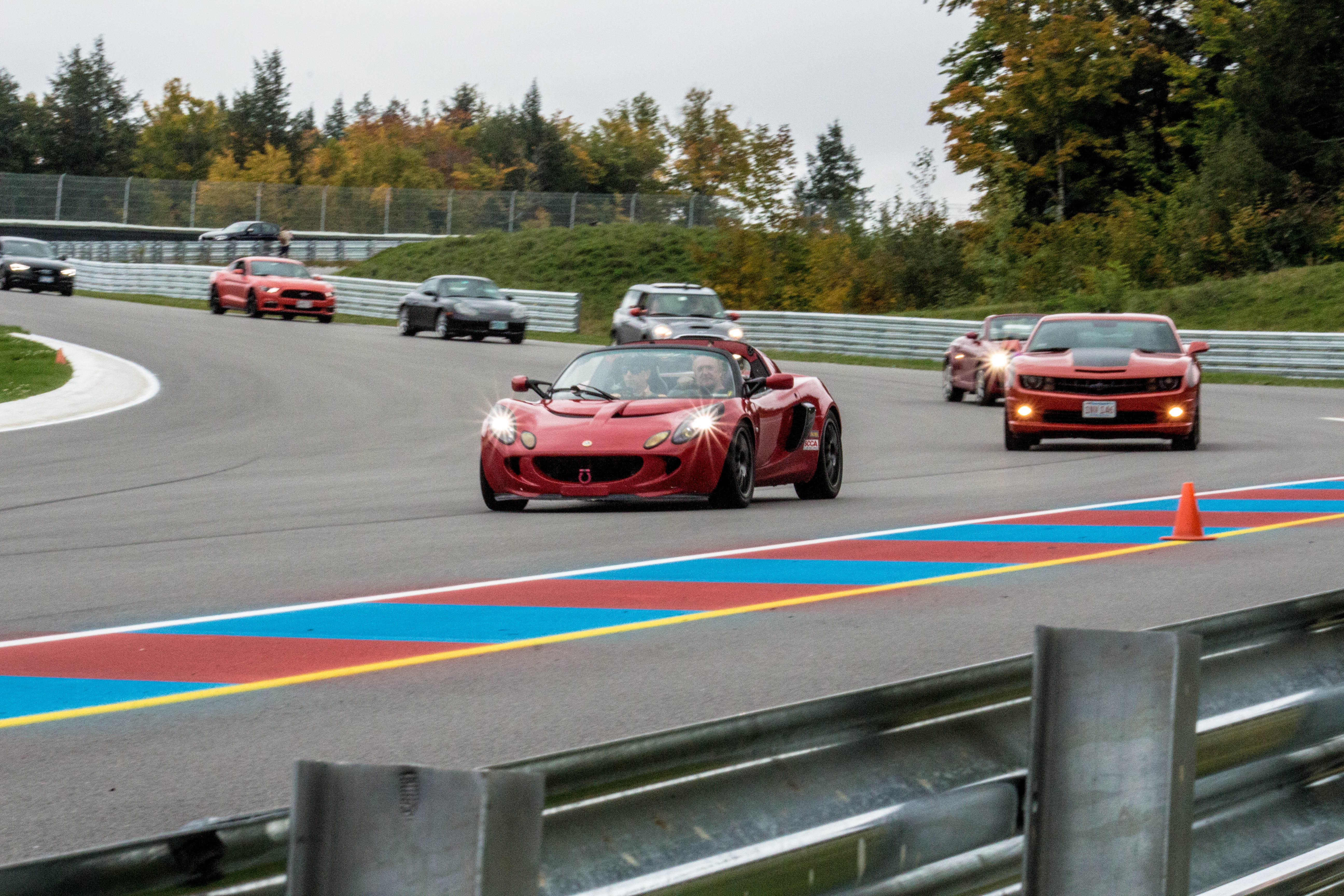 Pace Car Leading the Pack