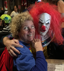Superwoman Jan and Pennywise Rick.