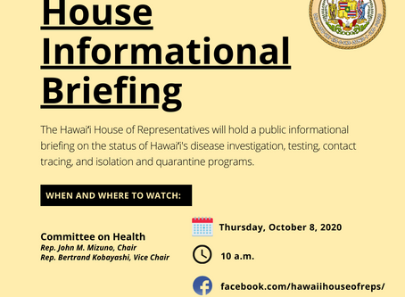 House to Begin Series of Informational Briefings with Health Committee October 8