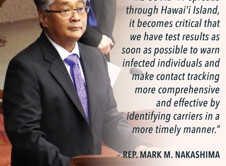 Hawaii Island Lawmakers want DOH to Improve Inadequate COVID-19 Testing, Lag Time Results
