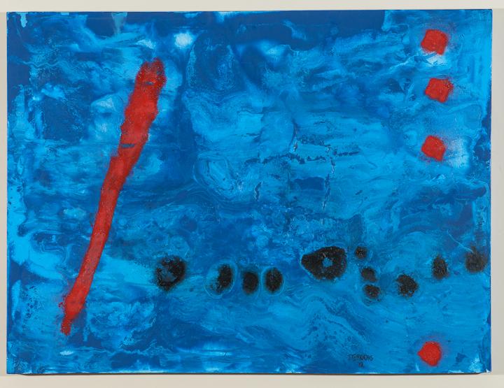 Blue IV (after Miro)